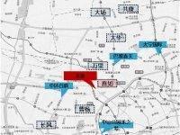 上海普陀中骏天悦交通图