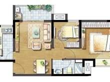 凯德新视界2室2厅1卫户型图