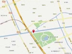 上海嘉定湖畔天下交通图