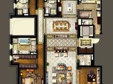 金地佘山天境4室2厅4卫户型图