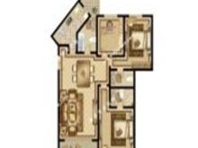 尚海湾豪庭3室2厅2卫户型图