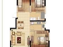 悦上海3室2厅1卫户型图