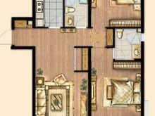 万科安亭新镇2室2厅2卫户型图