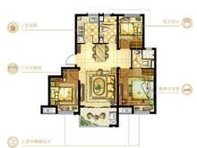 碧桂园浦东星作3室2厅2卫户型图