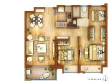 万科海上传奇3室2厅1卫户型图