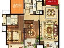 昆山象屿都城2室2厅2卫户型图