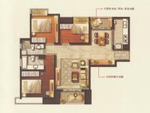 盘古嘉德3室2厅2卫户型图