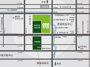 上海普陀中鹰黑森林交通图