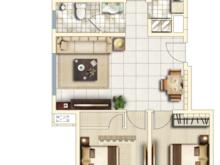 碧桂园玫瑰公馆3室2厅1卫户型图