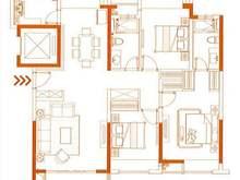 国贸天悦3室2厅2卫户型图