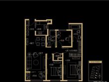 大宁金茂府3室2厅2卫户型图