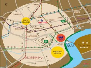 上海徐汇尚海湾豪庭交通图