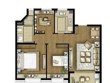 保利艾庐3室2厅1卫户型图