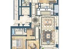 融创滨江壹号院4室2厅3卫户型图