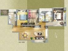 湖畔天下3室2厅2卫户型图