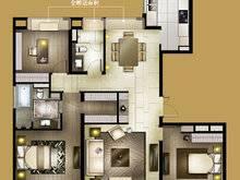 大宁金茂府4室2厅2卫户型图