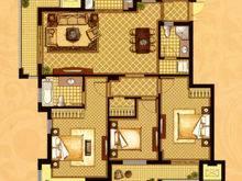 长城逸府3室2厅2卫户型图