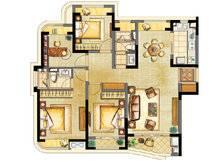 浦东颐景园4室2厅2卫户型图
