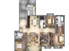 万科翡翠公园4室2厅3卫户型图