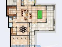 绿地长岛3室2厅3卫户型图