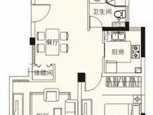 水榭兰亭2室2厅1卫户型图