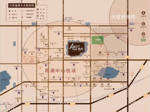 上海青浦中铁逸都交通图