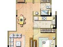 同济东时区3室2厅1卫户型图