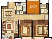 昆山象屿都城2室2厅1卫户型图