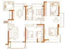 国贸天悦3室2厅3卫户型图