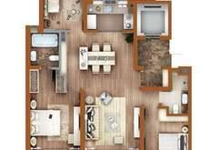 万科翡翠公园3室2厅2卫户型图