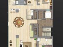 中鹰黑森林3室2厅2卫户型图