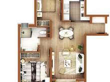 万科翡翠公园2室2厅1卫户型图