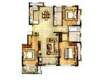 正荣璟园3室2厅2卫户型图