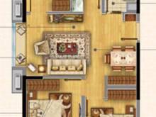 首创旭辉城3室2厅1卫户型图