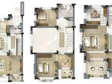 碧桂园玫瑰公馆4室2厅3卫户型图