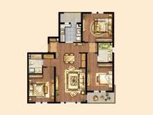 万科安亭新镇3室2厅2卫户型图