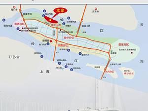 上海崇明蓝湖湾别墅交通图