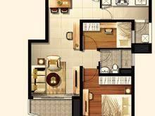盘古嘉德2室2厅1卫户型图