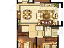 昆山象屿都城3室1厅1卫户型图