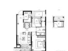 新城海上风华2室2厅1卫户型图