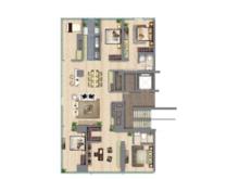 中鹰黑森林5室2厅2卫户型图