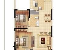 悦上海2室2厅1卫户型图