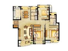 浦东颐景园3室2厅2卫户型图