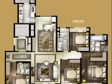 大宁金茂府4室2厅3卫户型图