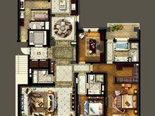 金地佘山天境3室2厅3卫户型图