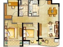 浦东颐景园3室2厅1卫户型图
